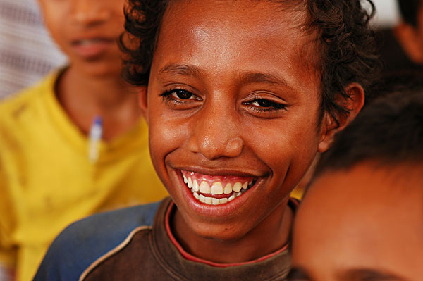 east-timor (timor-leste), dili, portrait of joy of a timorese boy.